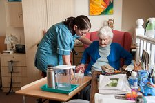 Care home assistant and resident