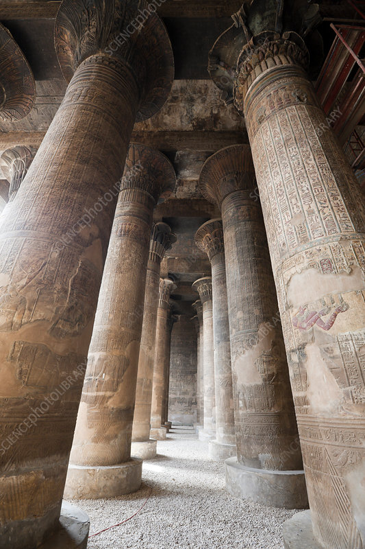 Columned Hall of Khnum Temple of Esna