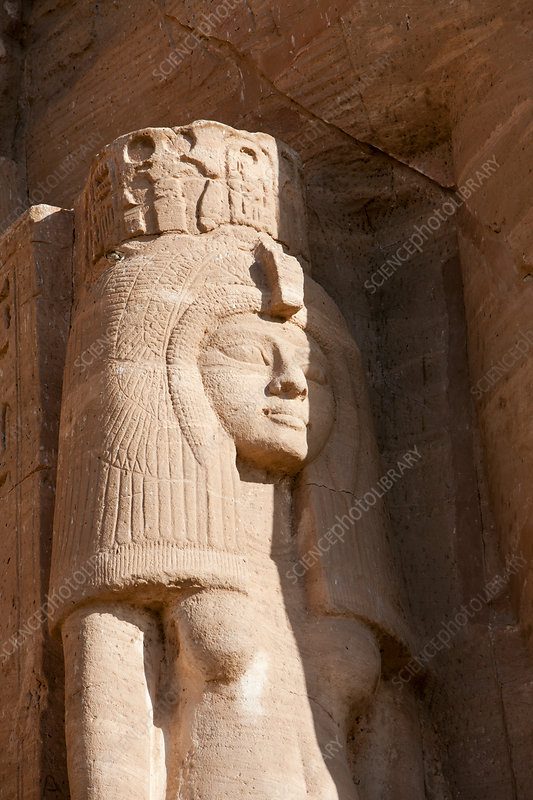 Statue at Front of Temple of Nefertari