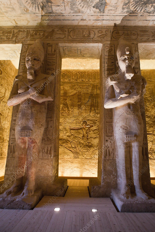 Statues inside Great Temple of Pharaoh Ramesses II