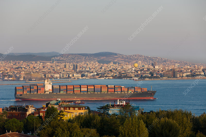 Container Ship on Sea of Marmara