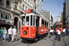 Historic Tramway at Istikal Caddesi