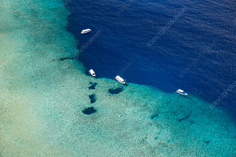 Aerial View of Divespot Blue Hole