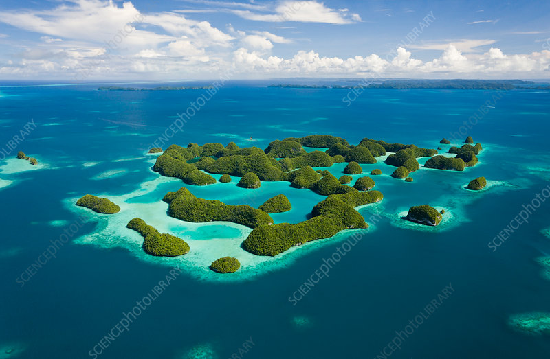 Aerieal View of Seventy Islands