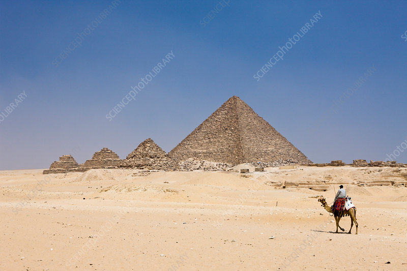 Pyramid of Menkaure and three small Pyramids