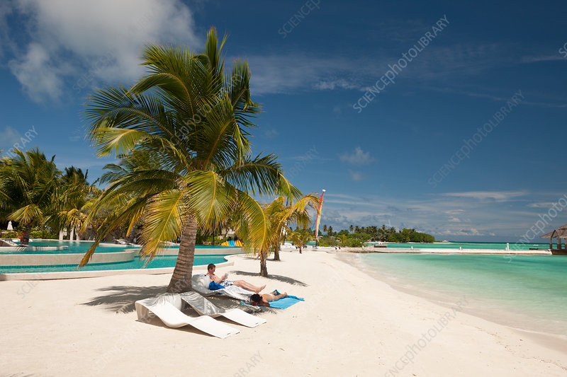 Beach of Maldive Island Kandooma