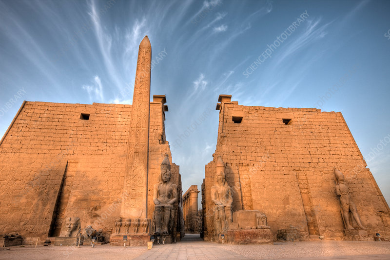 Ramesses II Statues and Obelisk, Luxor Temple