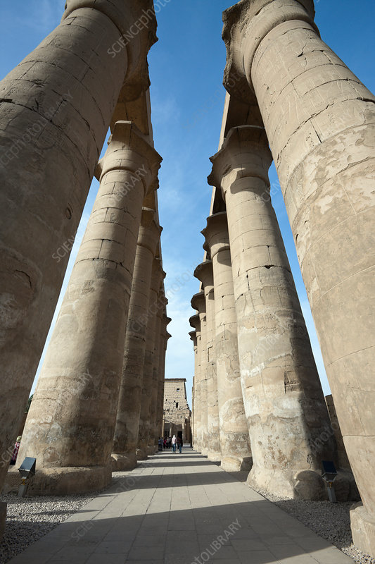Columned Hall inside Luxor Temple