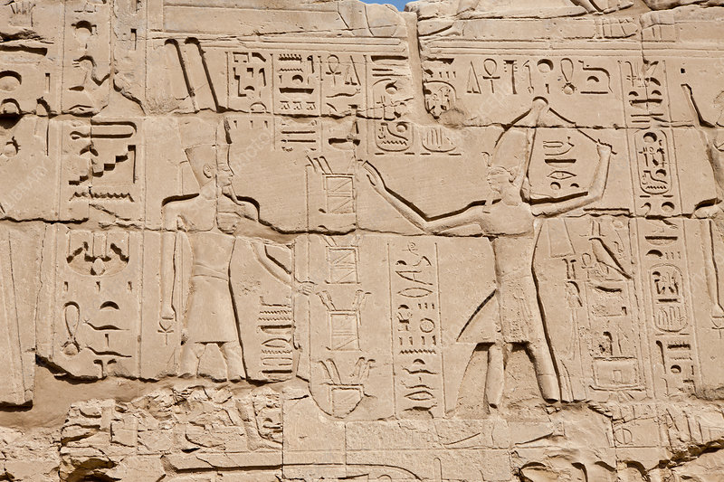 Wall Relief at Karnak Temple