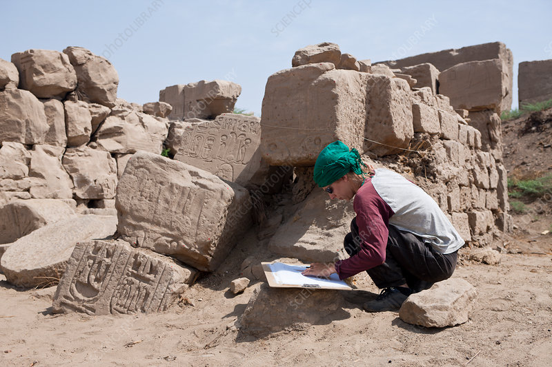 Archaeologist at Karnak Temple