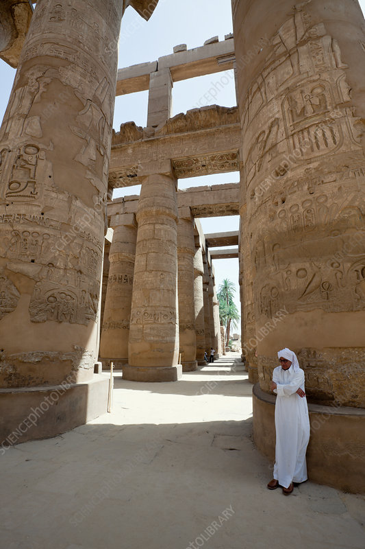 Pillars of Great Hypostyle Hall at Karnak Temple