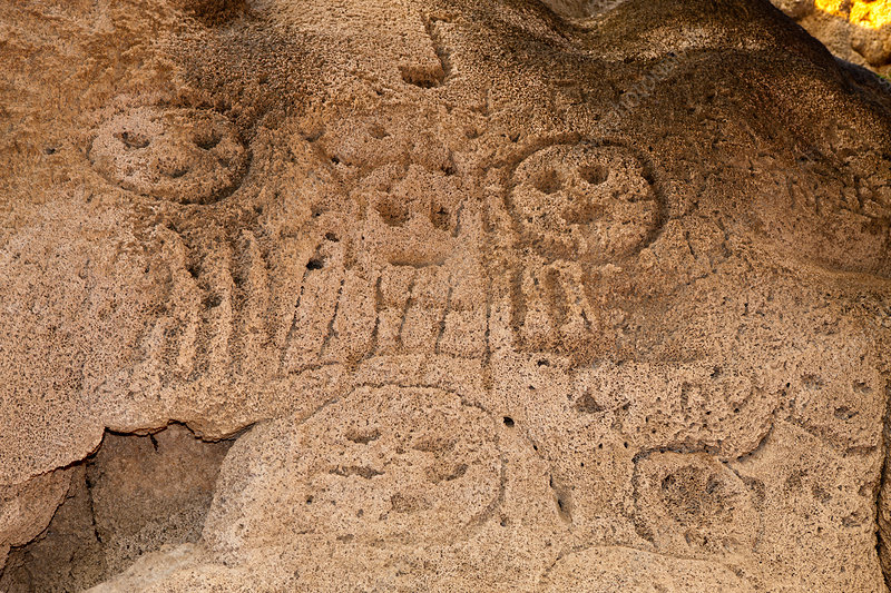 Prehistoric Rock engravings of Taino Culture