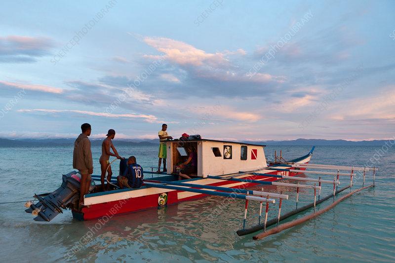 Typical Diving Boat at Cenderawasih Bay
