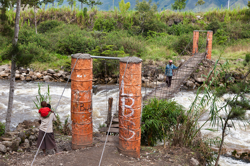 Hanging Bridge over Wamena River