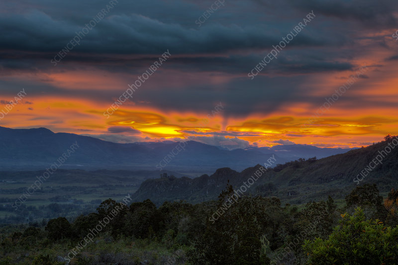 Sunset at Baliem Valley