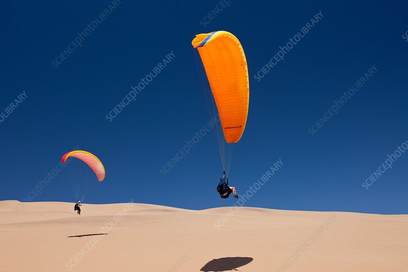 Paragliding over Dunes of Namib Desert