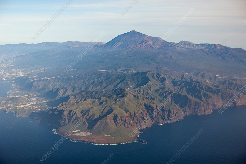 Aerial View of Teno Mountains and Teide