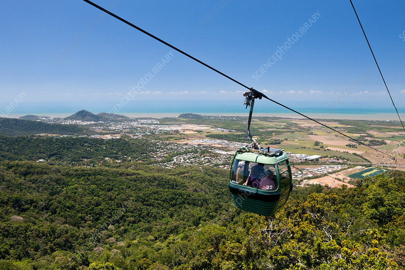 With the Skyrail Rainforest Cableway to Kuranda