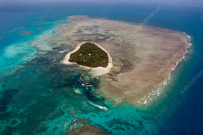 Aerial View of Green Island, Great Barrier Reef