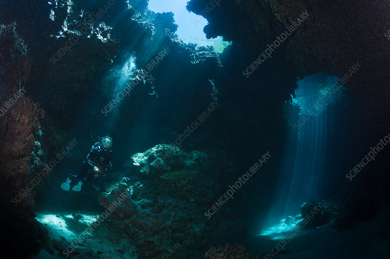 Scuba Diving in Mbuco Caves