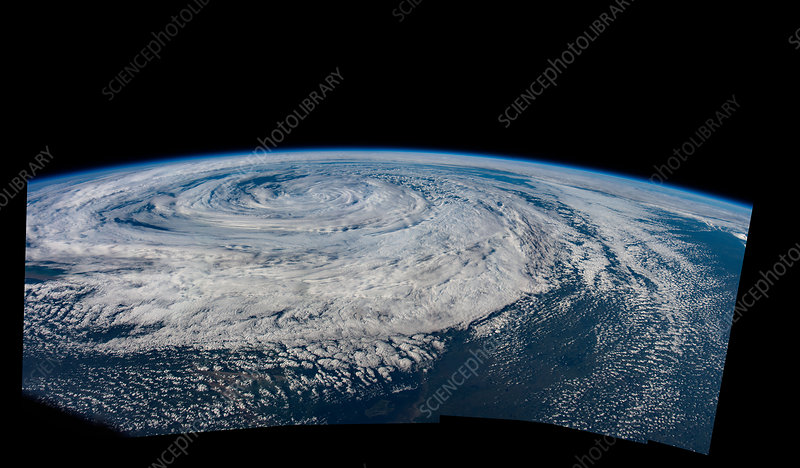 Weather system, north Atlantic, ISS image