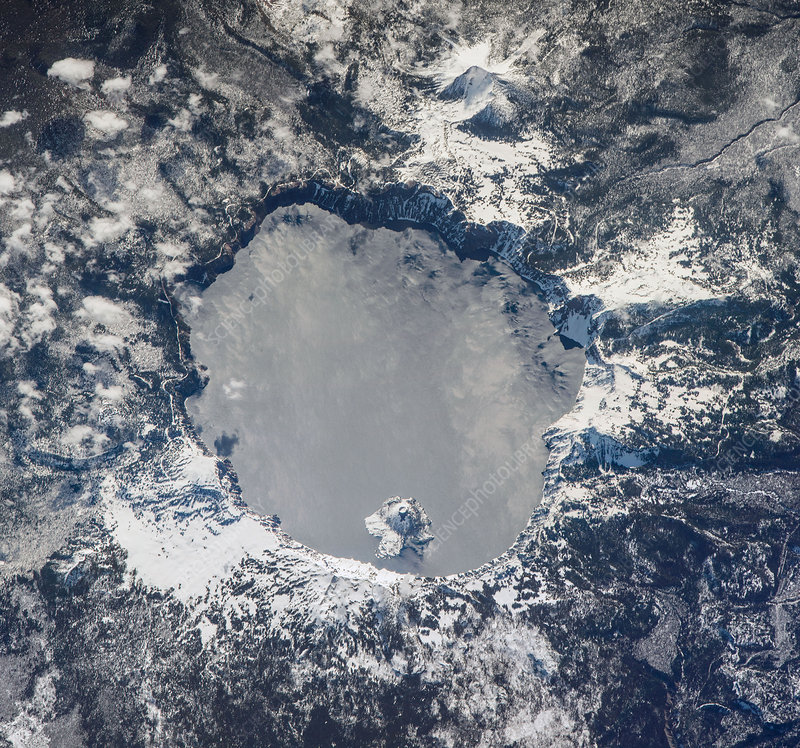 Crater Lake, Orgeon, USA, ISS image