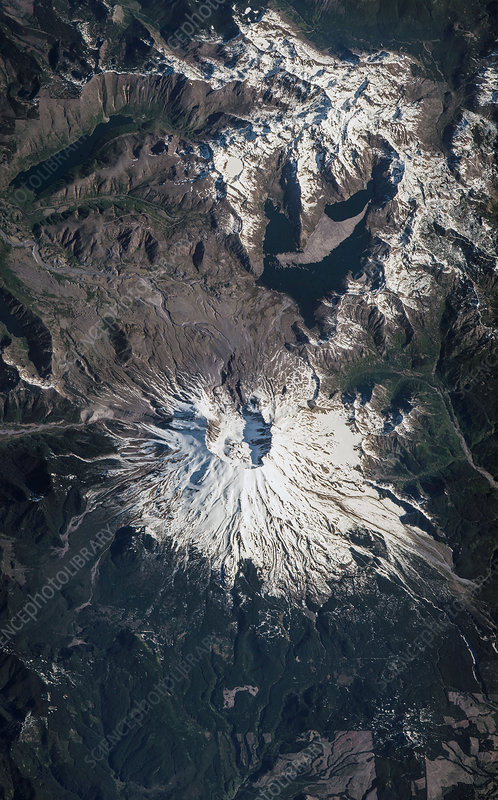 Mount St Helens, USA, ISS image