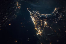 UAE seen from space at night, ISS image