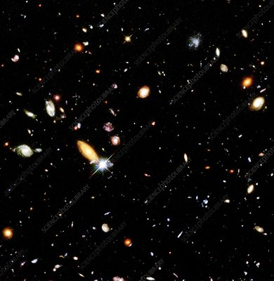 Part of the Hubble Deep Field, 1995