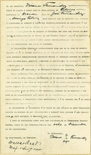 Yellow fever experimental subject contract, 1900
