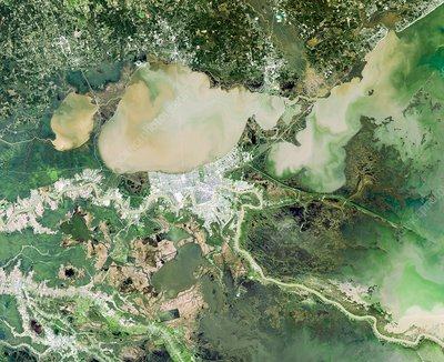 New Orleans, USA, satellite image