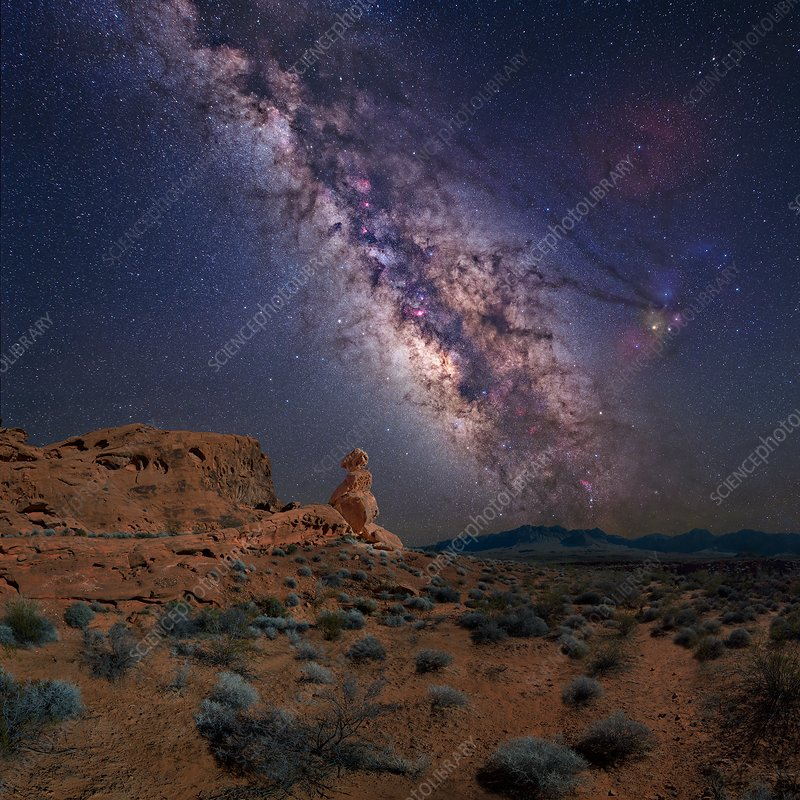 Milky Way over Valley of Fire