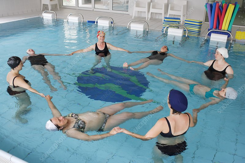 Pregnant women in swimming pool