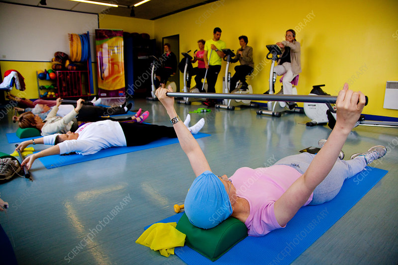 Cancer patients exercising