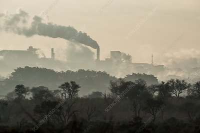 Paper making plant spewing pollution into the air