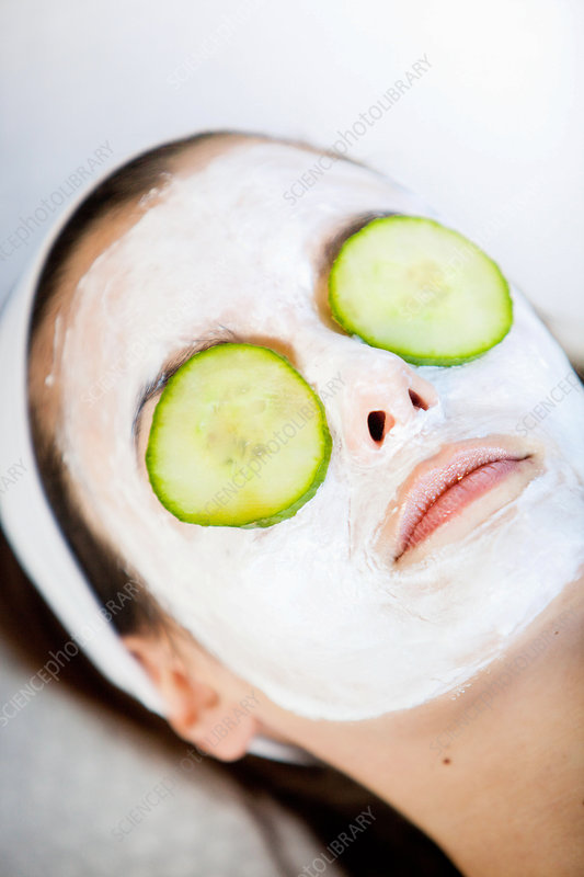 Woman with beauty mask