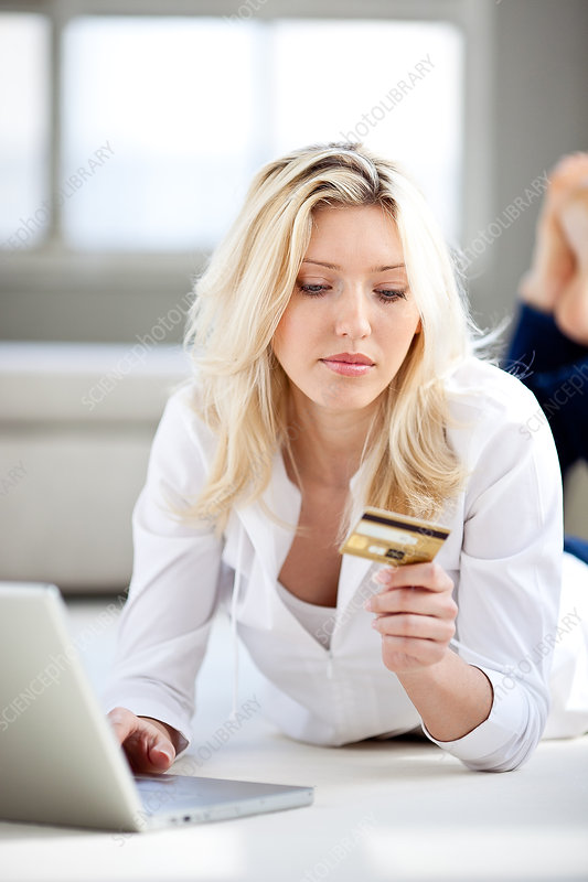 Woman making a purchase online