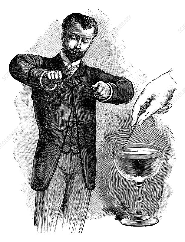 Magnetism experiment, 19th century