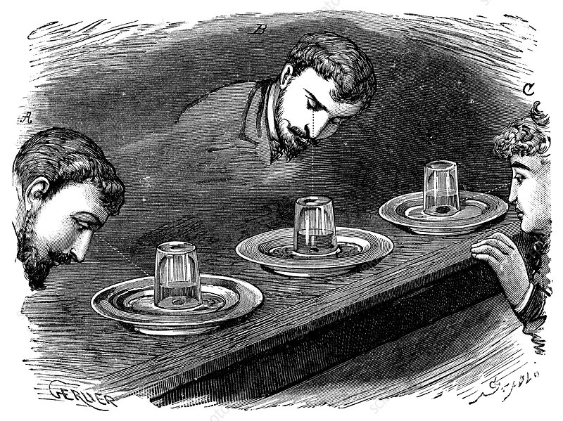 Refraction experiment, 19th century