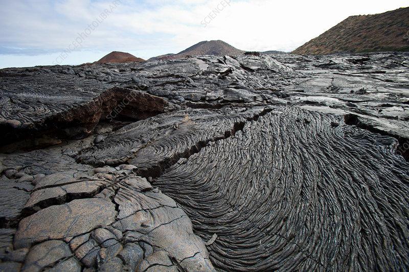 Lava field, Galapagos islands