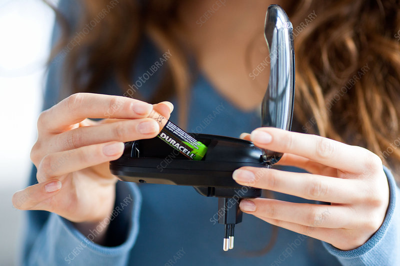 Woman using charger