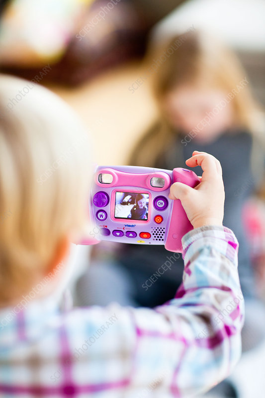Child taking pictures