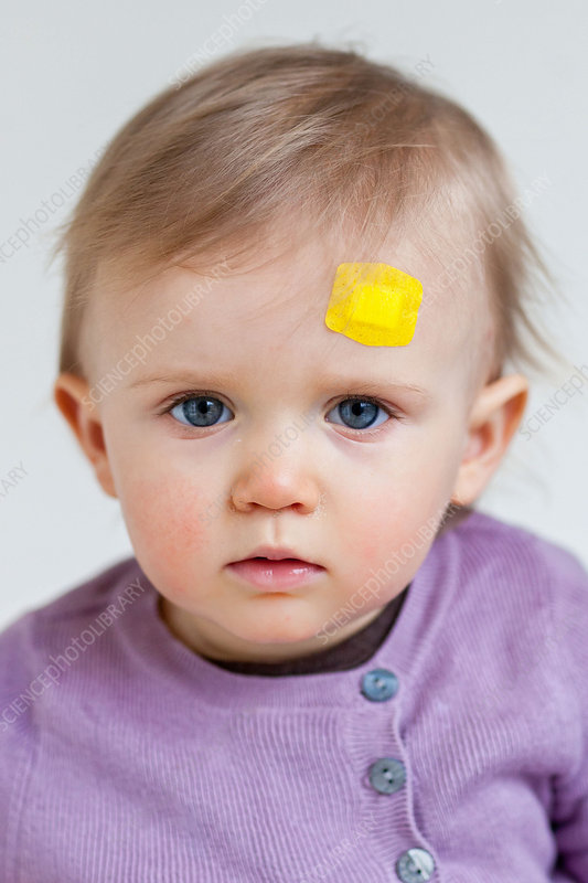 Baby with band-aid