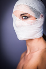 Conceptual image on cosmetic surgery
