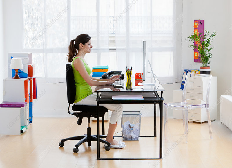 Right posture at computer