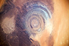 Richat structure, ISS image