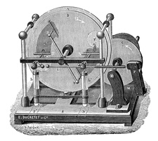 Holtz electrostatic induction generator, 19th century