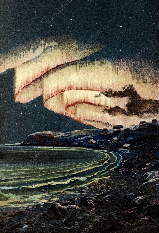Aurora borealis, 19th century