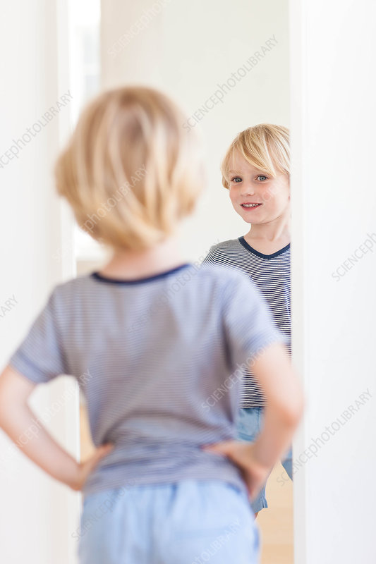 Child in front of mirror