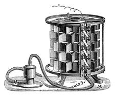 Clamond electroplating thermopile, 1874